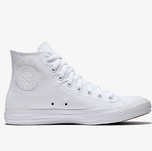 Converse Shoes | All White High Top